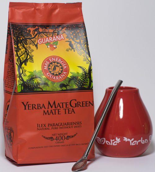 Yerba Mate green gift set rood