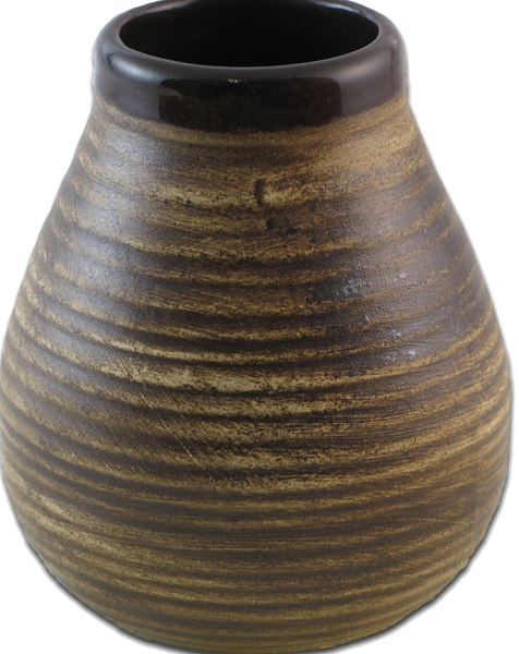kermamische kalebas bruin gestreept